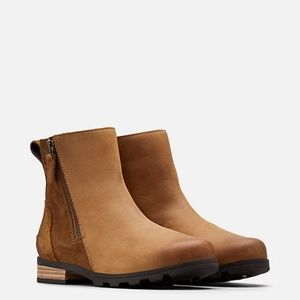 NWT SOREL Emeile Zip Bootie Camel Brown
